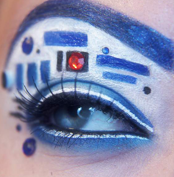 Geek + Chic: R2D2 Makeup